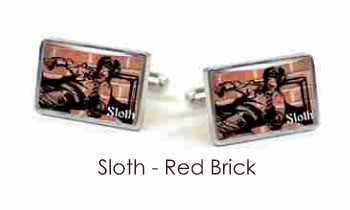 Tyler & Tyler Stencilart 7 Deadly Sins Red Brick Cufflinks Sloth