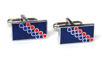 Tyler & Tyler Disco Cufflinks Navy