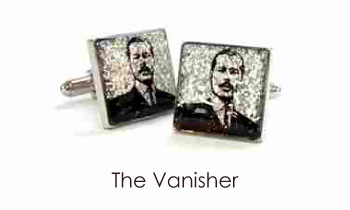 Tyler & Tyler Stencilart Glitter Cufflinks The Vanisher