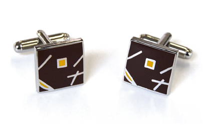 Tyler & Tyler Jazz Cufflinks Brown