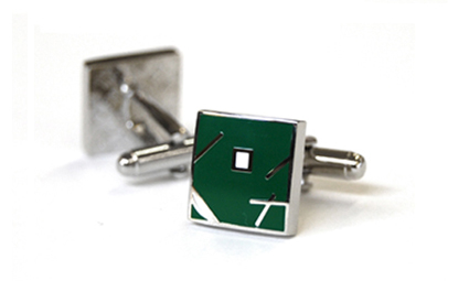 Tyler & Tyler Jazz Cufflinks Green