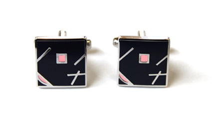 Tyler & Tyler Jazz Cufflinks Navy