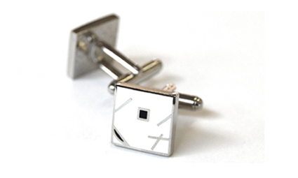 Tyler & Tyler Jazz Cufflinks White
