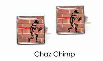 Tyler & Tyler Stencilart Red Bricks Cufflinks Chaz Chimp
