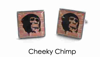 Tyler & Tyler Stencilart Red Bricks Cufflinks Cheeky Chimp