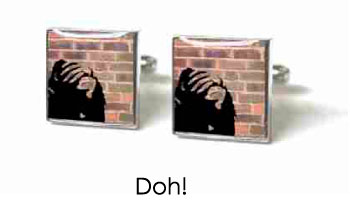 Tyler & Tyler Stencilart Red Bricks Cufflinks Doh