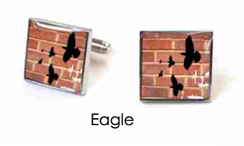 Tyler & Tyler Stencilart Red Bricks Cufflinks Eagle