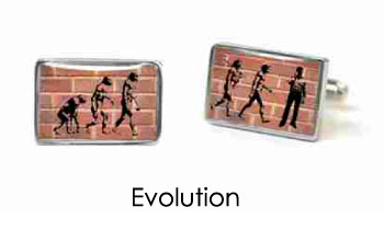 Tyler & Tyler Stencilart Red Bricks Cufflinks Evolution