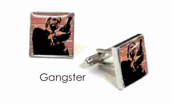 Tyler & Tyler Stencilart Red Bricks Cufflinks Gangster