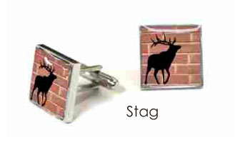 Tyler & Tyler Stencilart Red Bricks Cufflinks Stag