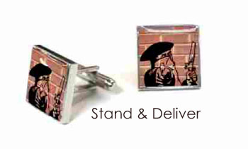 Tyler & Tyler Stencilart Red Bricks Cufflinks Stand & Deliver