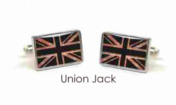 Tyler & Tyler Stencilart Red Bricks Cufflinks Union Jack