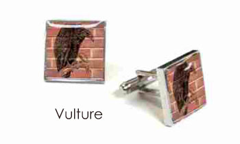 Tyler & Tyler Stencilart Red Bricks Cufflinks Vulture