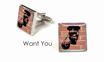 Tyler & Tyler Stencilart Red Bricks Cufflinks Want You