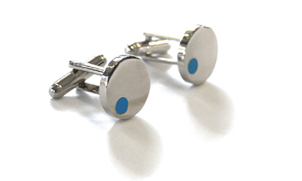 Tyler & Tyler Satellite Cufflinks Light Blue