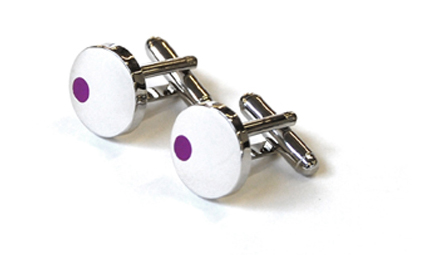 Tyler & Tyler Satellite Cufflinks Purple