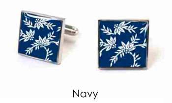 Tyler & Tyler Victorian Wallpaper Franklin Cufflinks Navy