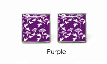 Tyler & Tyler Victorian Wallpaper Jasper Cufflinks Purple