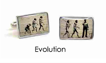 Tyler & Tyler Stencilart White Bricks Cufflinks Evolution