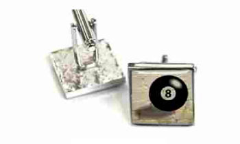Tyler & Tyler Stencilart White Bricks Cufflinks Lucky No. 8