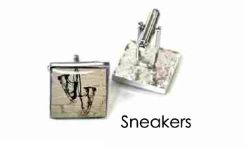 Tyler & Tyler Stencilart White Bricks Cufflinks Sneakers