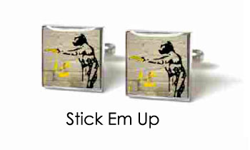 Tyler & Tyler Stencilart White Bricks Cufflinks Stick Em Up