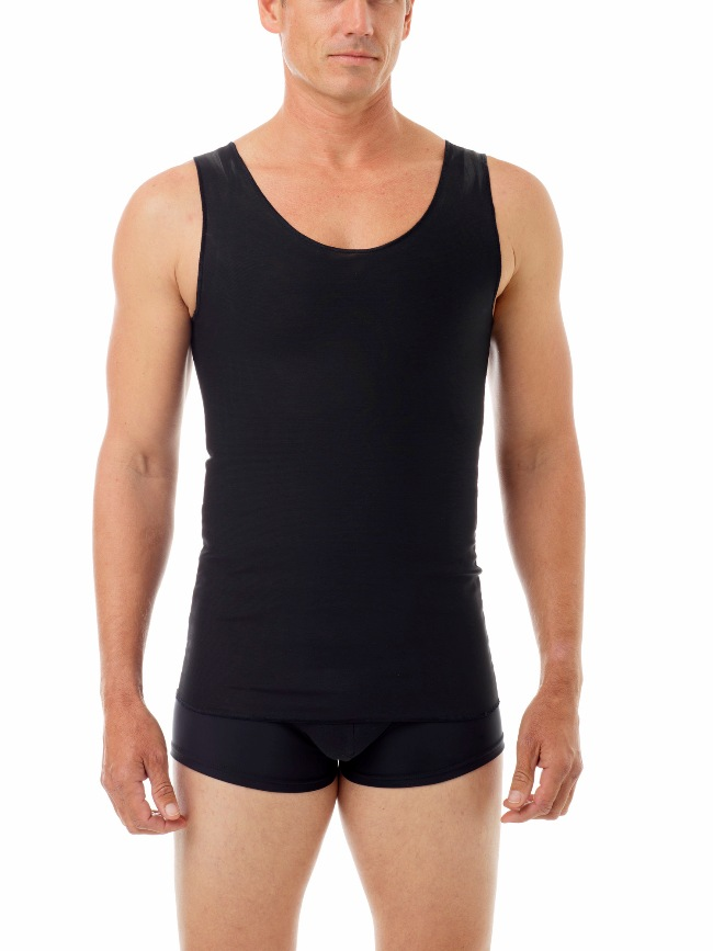 Underworks Shapewear Ultimate Double Panel Body Shaper Compression Tank Top T Shirt Black 997101