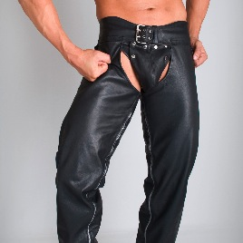 Whip It Leather Outer Zips Chaps Pants CN1