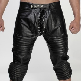 Whip It Leather Football Padded Knee Length Pants PN13