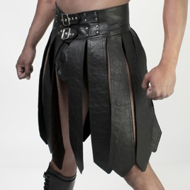Whip It Leather Gladiator Adjustable Buckle Kilt PN15