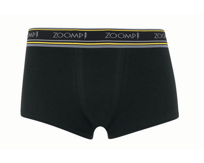 Zoomp Cotton/Elastane Trunk Boxer Brief Underwear Black 715-02